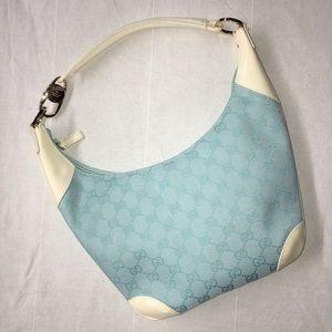 Authentic Gucci Shoulder Bag Pastel Blue